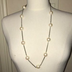 Carolee pearl station necklace